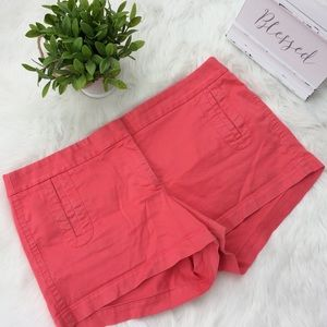 J. Crew Coral Stretch Chino Shorts Size 12